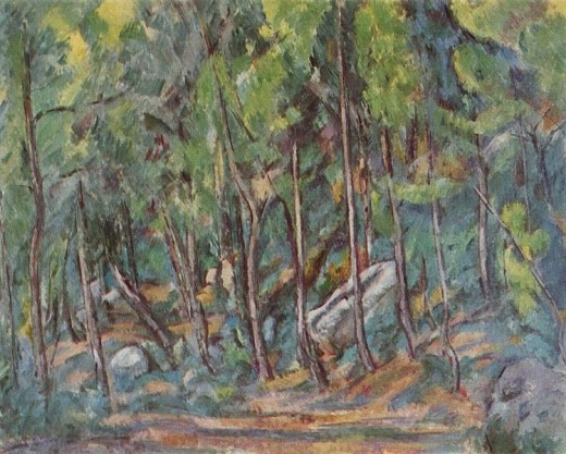 Fontainebleau Forest, Paul Cezanne.