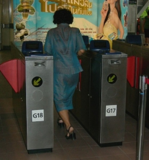 Skytrain Ticket Barrier