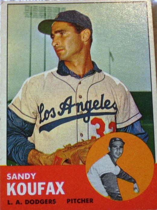 Sandy Koufax, 1963 Topps card