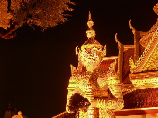 Demon at Wat Arun