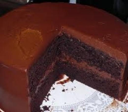 Chocolate Fudge Cake Topping