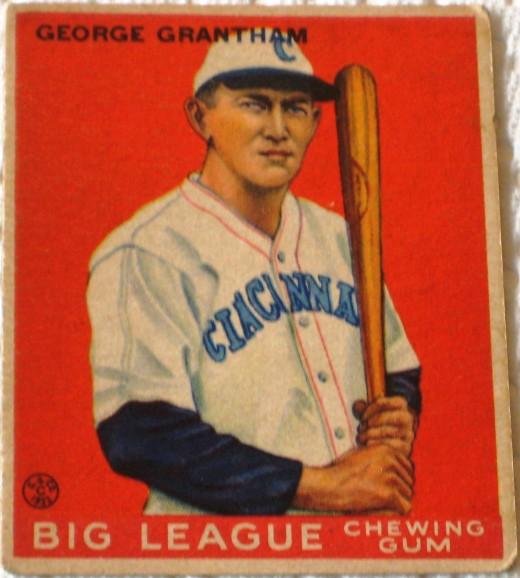 George Grantham, 1933 Goudey card