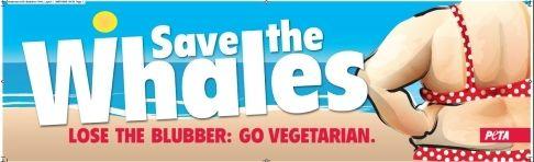 "PETA ""Save the Whales"" Billboard"
