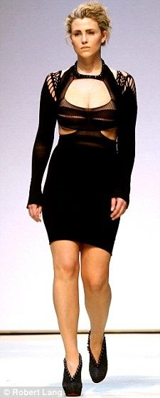 Plus-sized model from Mark Fast's 2009 Runway Show