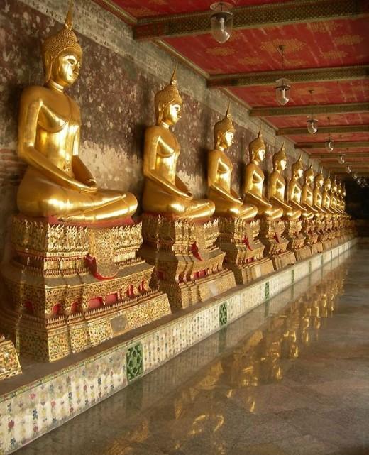 Wat Suthat Buddhas by Nick Upton