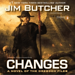 cover of the Jim Butcher novel Changes featuring Harry Dresden