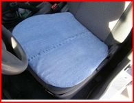 http://www.instructables.com/id/Cool-amp-Comfy-Recycled-Blue-Jean-Car-Cushion/