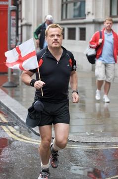 Eddie running a marathon for charity