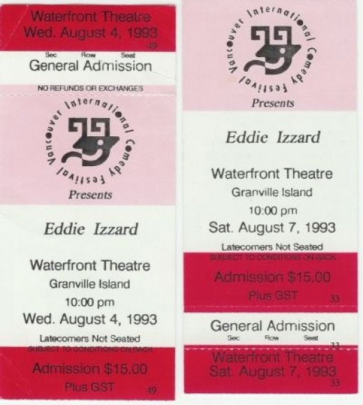 Tickets From My Frist Two Eddie Shows