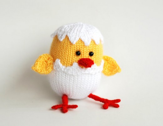 Chicken Hatched From Egg Knitting Pattern