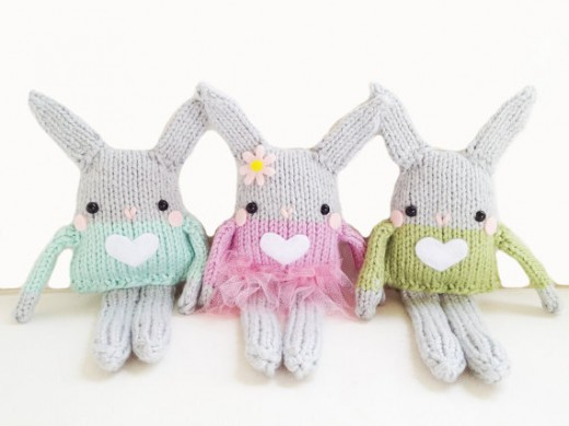Mini Bunny Knitting Pattern