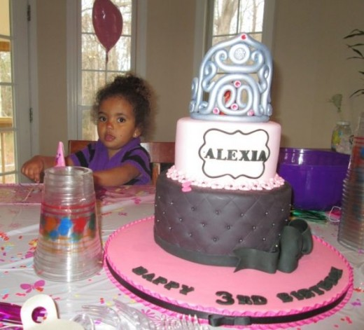 Alexia and her cake