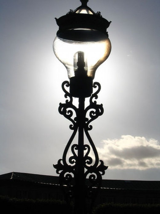 Solar powered streetlight, Denmark