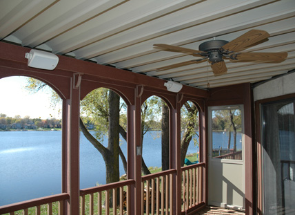 An underdeck ceiling system provides a waterproof barrier to allow you more enjoyment from your deck and porch.