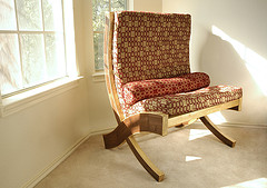 Walnut Bench with Upholstery (Photo courtesy by jimmothy05 from Flickr)