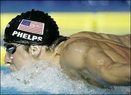 Team USA Swimmer Michael Phelps