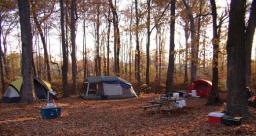 Halloween (Fall) Camping at Deer Creek State Park