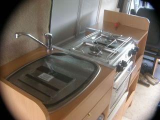 Kitchen sink and hob
