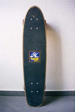 Had a similar skateboard which my mom promptly turned into ashes after she stepped on it in the middle of the night.