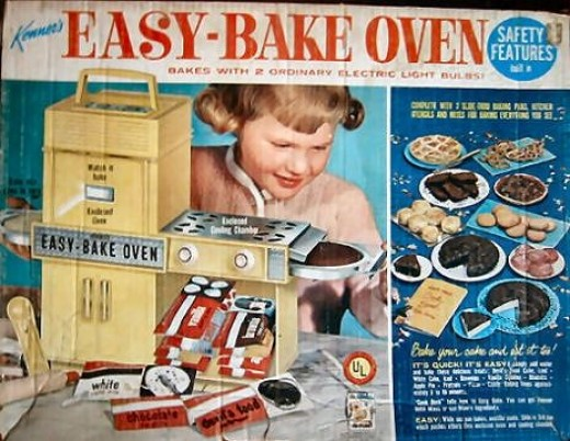 Poor daddy. He ate so many half baked, cooked by a light bulb cakes.