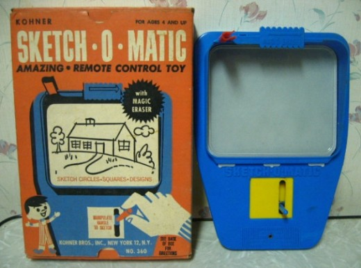 I liked etch a sketch better. My dad used to draw different rooms in the house on mine. The kitchen picture was his best work!