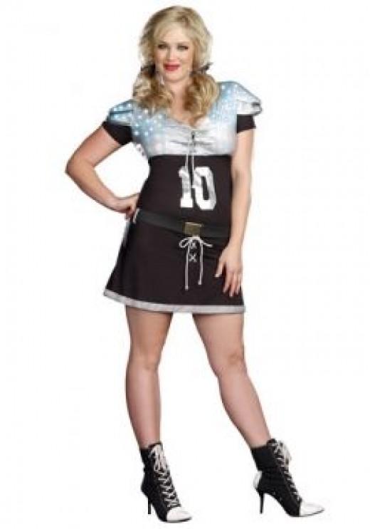 sexy plus size quarterback costumes