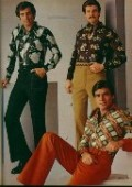 men's fashions of the 70's, gotta love polyester!
