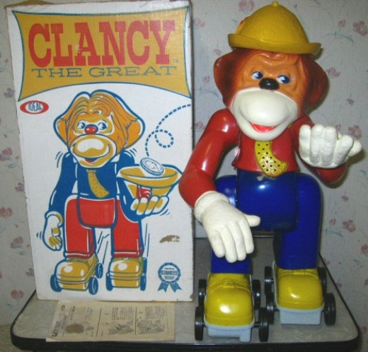 Good ol' Clancy. My cousin had this and I carried it home with me for a weekend! Needless to say, she had her mom come get it the next day.