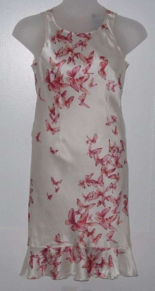 Bob Mackie Butterflies Print Sleeveless Dress (Under $20)