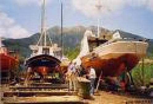 Local shipyard near Nidri
