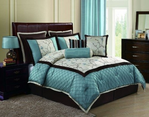 Chocolate Brown And Blue Bedding Ideas
