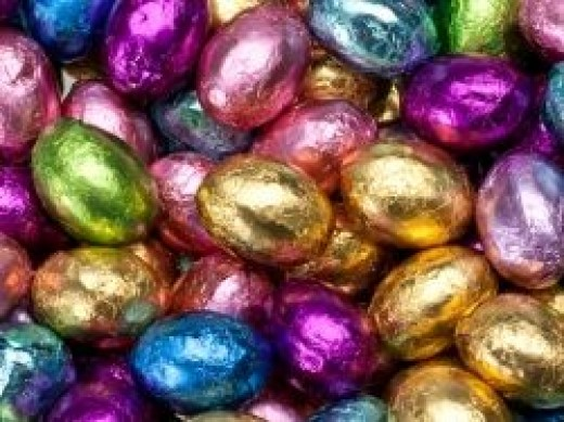 Foil Covered Milk Chocolate Easter Eggs