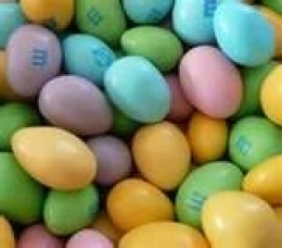 Easter Pastel Colored M&M's