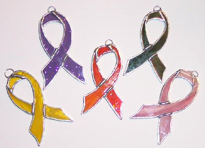 Ribbons are the symbol for breast cancer awareness.