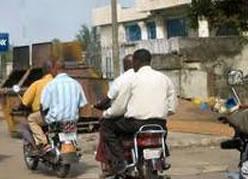 Motorbikes, cheap transport.