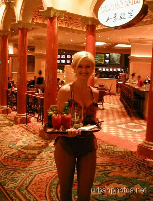 Cocktail server at the Venetian