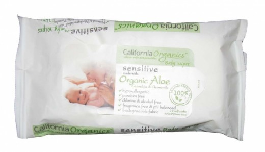 California Organics Sensitive Baby Wipes
