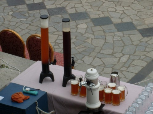 Beer on tap, as much as you can drink