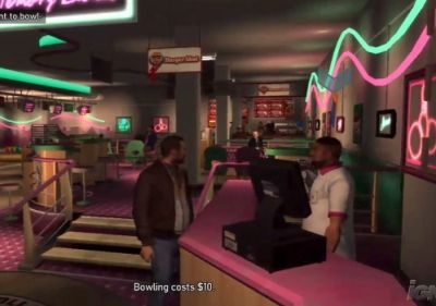 Bowling is A Playable Mini-Game