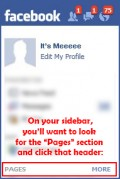 Facebook Page location on a Facebook profile