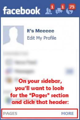 Facebook Page location on a Facebook profile