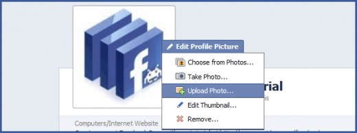 Upload a Facebook Page profile picture