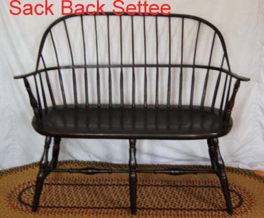 Sack-Back Settee / Loveseat