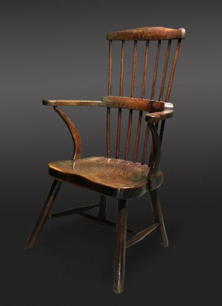 Welsh oak stick Windsor Chair