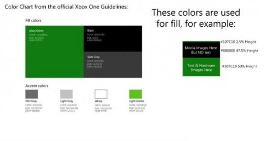 Xbox One Color Scheme