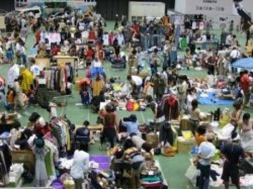 Flea Market Image in the Public Domain