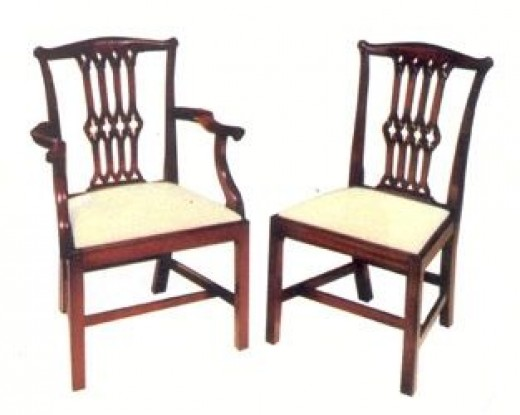 duncan phyfe dining chairs shield back - Vintage Wooden Dining Chairs