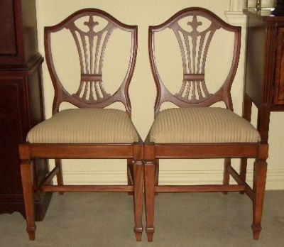 Duncan Phyfe Dining Chairs, Shield Back