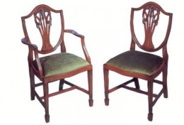 duncan phyfe dining chairs sheild back prince wales