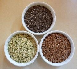 Hemp, flax, and chia seed